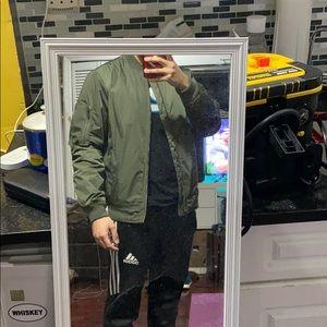 Classic Green Bomber Jacket
